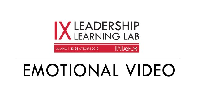Leadership Learning Lab 2019 - Emotional video